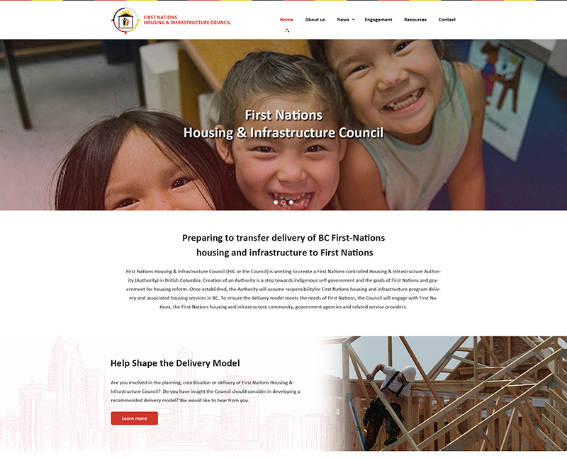 First Nations Housing Infrastructure<div style='clear:both;width:100%;height:0px;'></div><span class='cat'>Website Design</span>